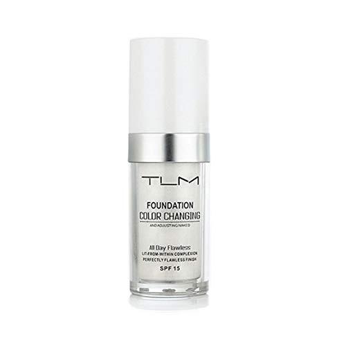 TLM Flawless Farbwechsel Warme Haut Ton Foundation Make-up Basis Nude Face Feuchtigkeitsspendende Flüssigkeit Abdeckung Concealer für Frauen fghfhfgjdfj