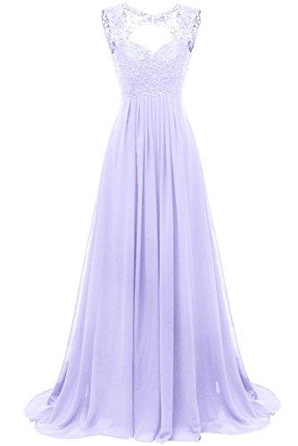 Carnivalprom Damen Chiffon Abendkleider Für Hochzeit Elegant Spitze Brautjungfer Kleider Lang...