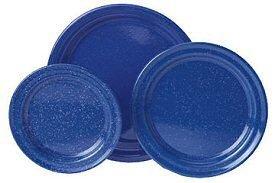 GSI 8.75 Blue Graniteware Stainless Steel Rim Salad Plate, 31522 by GSI Rim Plate