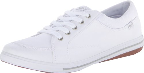 Keds Women's Vollie LTT Canvas Sneaker,White,6 M US White