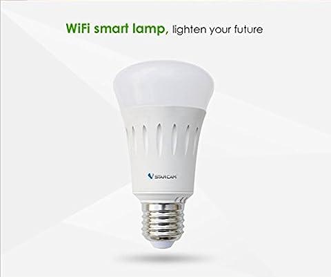 LED Lampen E27 - APP Fernbedienung, Dimmbar, 16 Mio Farben, Energie Sparen VOSMEP AF820 SH20 (Familien Gemeinsam Auf Weihnachten)