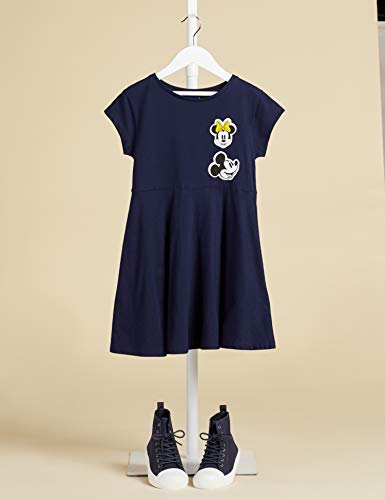 Filles Disney Minnie Mouse bleu marine sans manches robe d/'été 2 à 8 ans