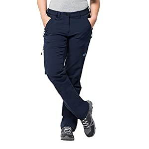 Jack Wolfskin Activate XT ladies versatile ladies softshell pants, wind- and water-repellent outdoor pants Blue, Size: 42