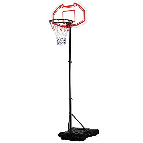 Yaheetech Basketballkorb mit Ständer Basketballkorb Set Basketballanlage 196-251 cm höhenverstellbar