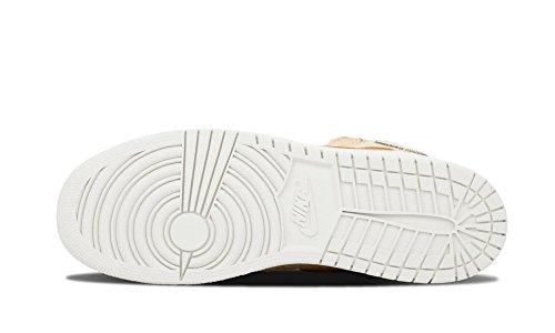 Nike Mädchen Air Jordan 1 Retro Hi Og Prl Gg Laufschuhe Marrón / Blanco (Sand Dune / Cannon-Flt Gold)
