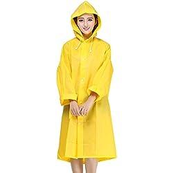 Minetom Chubasquero Transpirable EVA Reutilizable Unisex Color Amarillo Talla M