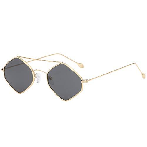 Moonuy Damen Cat Eye Sonnenbrille Lady Multicolor Sonnenbrille Fashion Cat Eye Shade Sonnenbrille Integrierte Streifen Vintage Brille