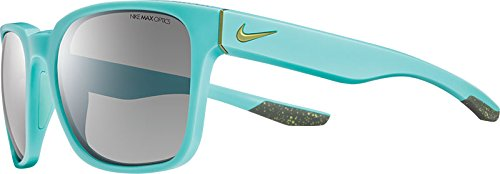 Nike EV0874-303 Recover Sunglasses (One Size), Matte Bleached Turquoise/Fierce Green, Grey Lens image
