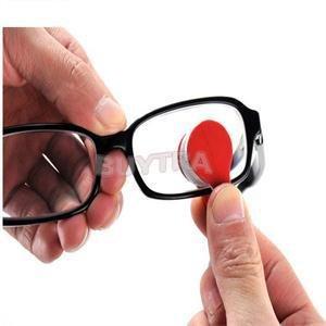 Clean Eyeglass - Random Glasses Eyeglass Sunglasses Spectacles Microfiber Mini Cleaner Brush - Brush Point Case Blush Beauty Good Microfiber Powder Clean Rose Accessory Paint Golden Makeup Bi