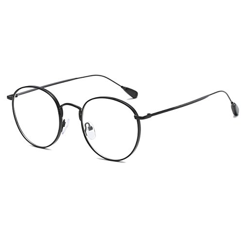 CVOO New Fashion Men Women Optical Eyeglasses Retro Round Glasses Clear Glass Brand Designer Transparent Glasses Women Frame