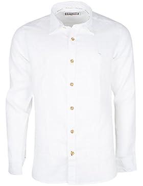 Stockerpoint Herren Trachtenhemd Leinen weiß
