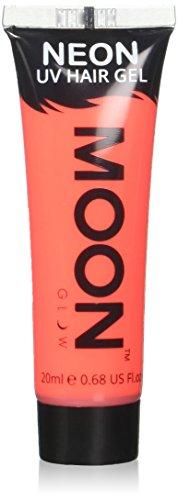 Moon Glow - Neon-UV-Haargel - 20ml Intensiv Rot - machen Sie sich leuchtende Spikes!