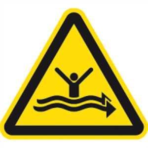 Schild Warnung vor starker Strömung ISO20712-1 40cm Alu