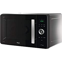 Whirlpool JQ 280 MB Micro-ondes, thermo-ventilé, à installation libre, avec cuiseur vapeur, grille basse, plat Crisp et poignée, 30 L, noir