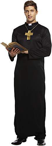 Kragen Priester Kostüm - Henbrandt - Erwachsenen Kostüm Priester Kostüm