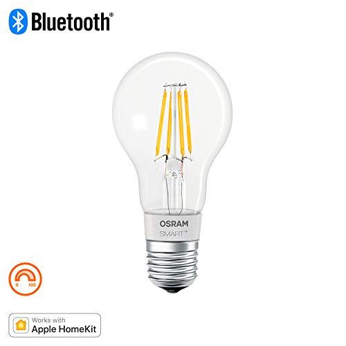 OSRAM SMART+ LED Filament, Bluetooth Lampe mit E27 Sockel, dimmbar, ersetzt 50W Glühbirne, warmweiß , Kompatibel mit Apple Homekit und LEDVANCE Smart+ App für Android