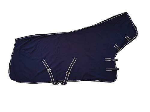 netproshop Pferde Abschwitzdecke mit Halsteil Fleece Blau, Groesse:145