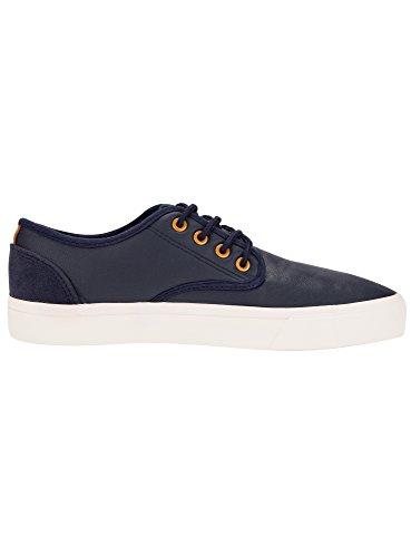 oodji Ultra Herren Lederimitat-Schuhe Basic Blau (7900N)