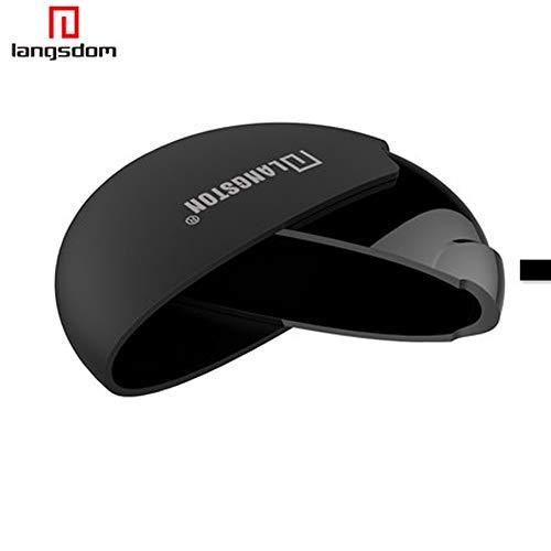 Altsommer Kopfhörer Umdrehung Multifunktions Aufbewahrungsbox Tasche mit Mattiert Hartschale Schutztasche für Kopfhörer Trage Box Kopfhörer Praktische Tragetasche für Apple (Schwarz) (Beat Tragetasche)