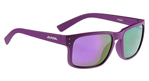 Alpina Fahrradbrille Sportbrille Sonnenbrille Brille KOSMIC purple mat