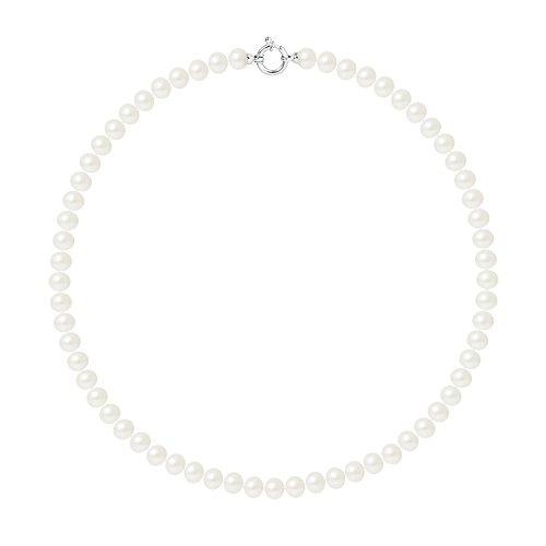 Pearls & Colors Perlenketten - AM17-COL-AG-POT78-AML-WH