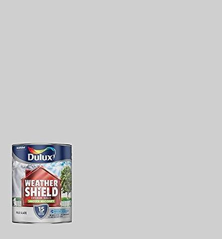 Dulux Weather Shield Smooth Masonry Paint, 5 L - Pale Slate