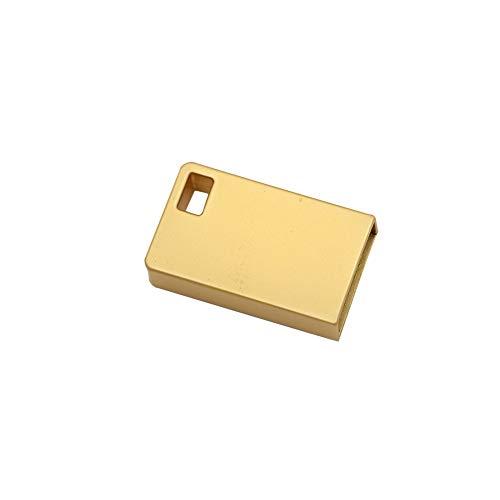KEYkey Quadratische 32GB USB-Flash-Laufwerke Portable USB Memory Sticks Jump Drive Metall U Disk Data Storage B1 Typ Goldene -
