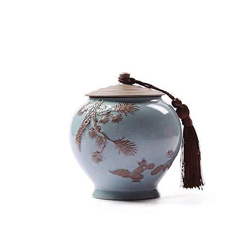 Gaoxingbianlidian Haustier Sarg, Enge Verwandte und liebes Haustier Krematorium, Elite Souvenirs - 13cm im Durchmesser (Keramikofen Light Blue Pine Cone) (Color : Blue, Size : 13 * 13cm)
