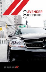 2013-dodge-avenger-owner-manual-no-supplemental-material-manual-only-no-supplemental-material