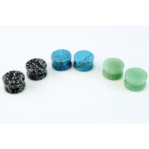 3coppia di 1/2(6) totale 12mm ossidiana, colore: