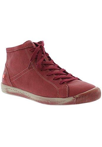 Softinos Damen Isleen Smooth Hohe Sneaker Rot