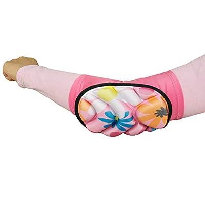 Xiton Man ist mit Licht und dicken Ellbogenschonern mit weichen atmungsaktive Sport- Kissen für Kinder, geeignet für Rosa von 6 bis 10 Jahre alt ausgestattet