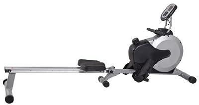 AsVIVA RA11 Rudergerät Ergometer Rower Cardio XI mit 8 manuellen Widerstandsstufen inkl. Multifunktionscomputer mit Pulsmessung für Das Ausdauertraining zu Hause und klappbar