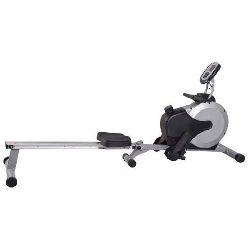 31RtEl67EHL. SS500  - Home Rower Ergometer AsVIVA RA11 | Rowing Machine with 12kg Flywheel mass | Cardio Workout with 8 level manually adjustable | Driving Belt System | including computer | Heart rate receiver | Rower Folding silver