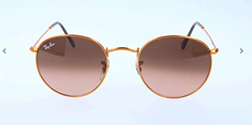 RAYBAN JUNIOR Herren Sonnenbrille Round Metal Shiny Light Bronze/Pinkgradientbrown, 50