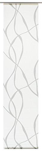 Gardinia tenda a pannello (1 pezzo), scorrevole, opaco, tenda a pannello in tessuto lavabile, motivo ondulato, bianco/grigio, 60 x 245 cm (lxa)