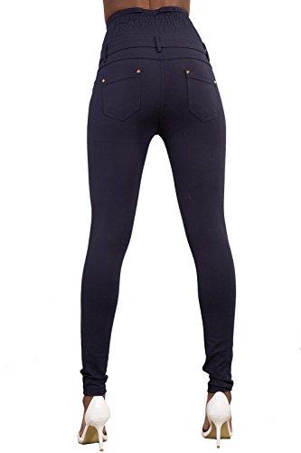 LustyChic Damen Skinny Jeanshose, Einfarbig Navy