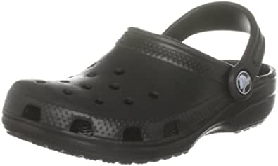 Crocs Classic Kids Unisex-Kinder Clogs 10006, Nero (Black), 34/35 EU