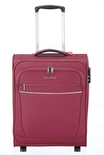 Valigia 'CABIN' by travelite, ideale come bagaglio a mano: pratico trolley a due ruote disponibile e dotato di 2 ampie tasche frontali