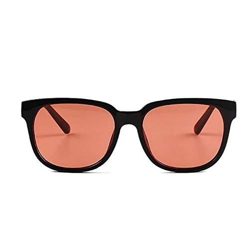 JESSIEJESSIE YY4 Retro Unisex Polarized Sonnenbrillen für Frauen übergroßen quadratischen schwarzen Rahmen unzerbrechliche PC-Objektiv Sonnenbrillen UV-Schutz umrandeten Sonnenbrillen Damenbrillen