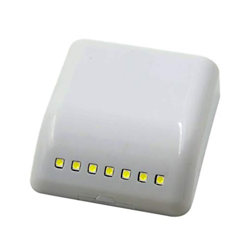 Dicomi LED Lichtsensor Nachtlampe Innenscharnier Schrank Licht Kleiderschrank Lampe Schublade Schlummerleuchten Weiß