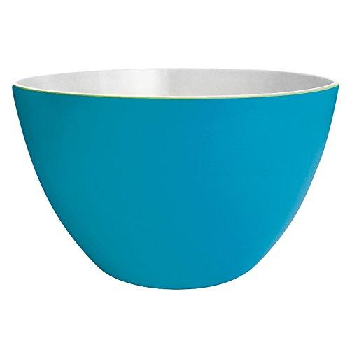 Zak! designs 2002-1896 Duo Saladier, Bleu Aqua/Blanc