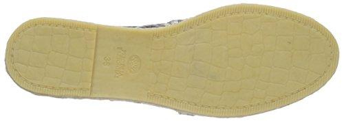 Fred de la Bretonnière Fred woman bestseller flat step-in espadrilles easy rubber sole Benidorm, Espadrilles femme Gris (Ash)