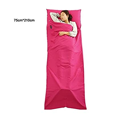 Lightweight Sleeping Bag liner Skin-friendly Pure Cotton Portable for Camping Hiking and Outdoors, Hotel and Indoors ,