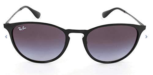 Ray Ban Unisex Sonnenbrille Erika Metal, (Gestell: schwarz, Gläser: grauverlauf 002/8G), Large (Herstellergröße: 54)