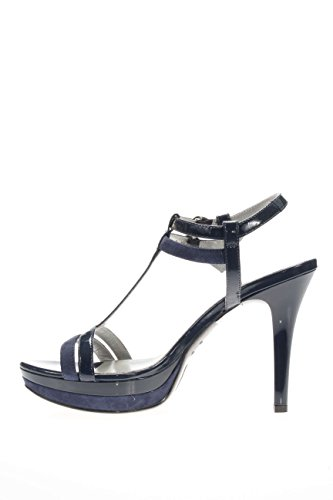 Nero Giardini Femme-Sandale fonds plateau P615751DE 208 santal fonds plateau Bleu - bleu