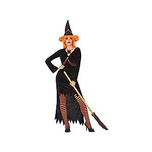 Atosa-54256 Atosa-54256-Disfraz Bruja para mujer adulto-talla M-L naranja, color (54256)
