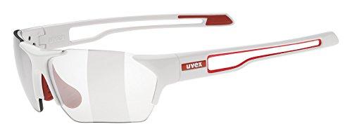 Uvex Sportsonnenbrille Sportstyle 202 Small V, White Red/Lens Variomatic Smoke, One Size, 5306028301