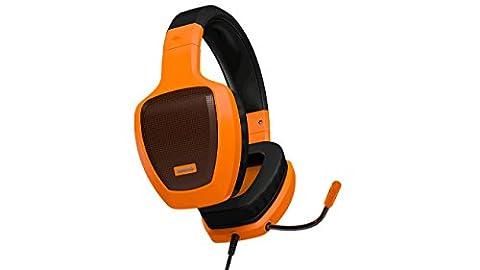 Ozone Rage Z50-Casque avec microphone et fil de 3,5mm en noir et orange, pour PC/jeux