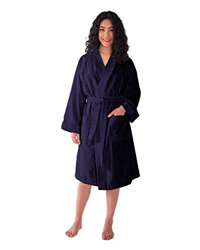 f75ce52cc3b65 Archee - Peignoir de bain en éponge court en stil kimono pour femme 100%  Coton ...